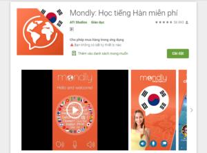 Học ngôn ngữ miễn phí - Mondly